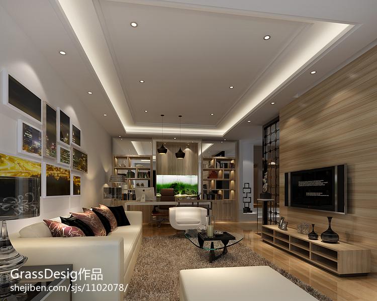 面积90平美式三居装修效果图片大全