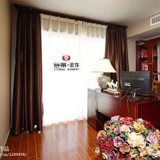 精选面积115平东南亚四居书房装修实景图片欣赏
