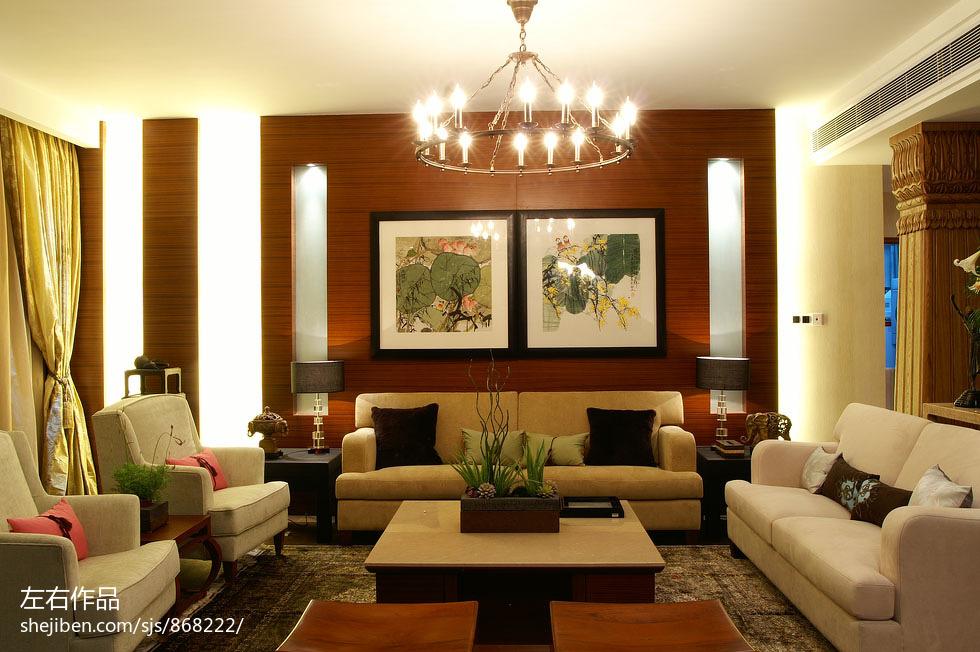 美式奢华客厅装修效果图