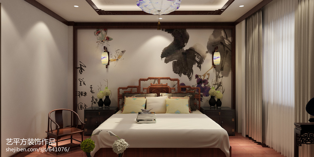 时尚简约卧室设计效果图