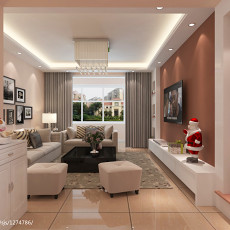 精选两居室家庭客厅装修效果图2013