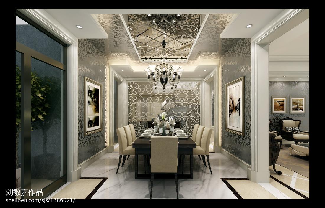 简约美式家居吧台装修设计效果图片