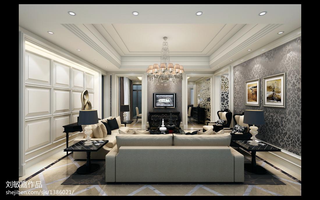 简约美式卧室装修设计效果图片