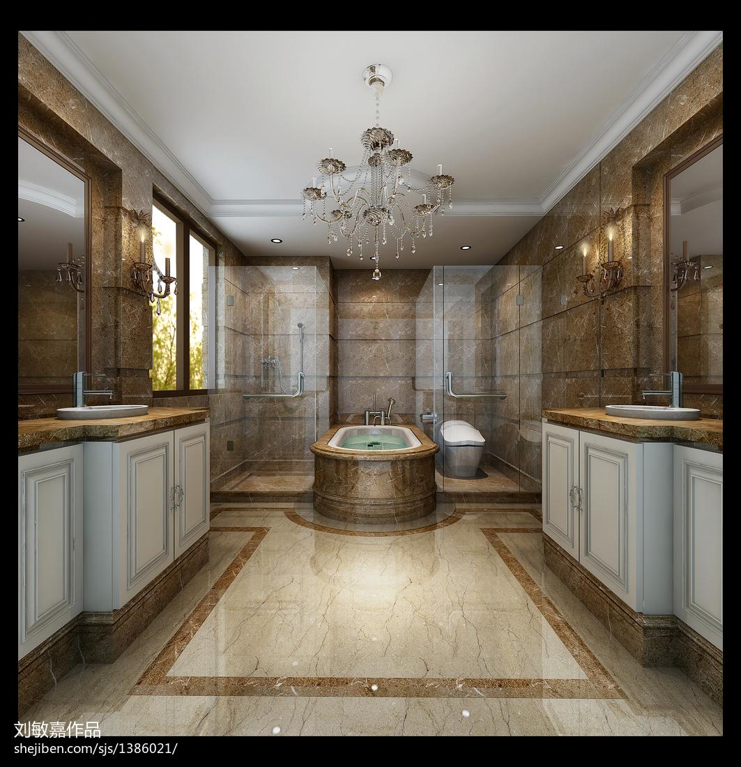 简约美式室内餐厅设计效果图片