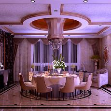 热门119平米欧式别墅餐厅装修实景图片大全