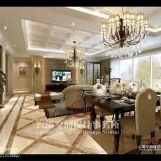 2018面积140平复式客厅欧式效果图片欣赏