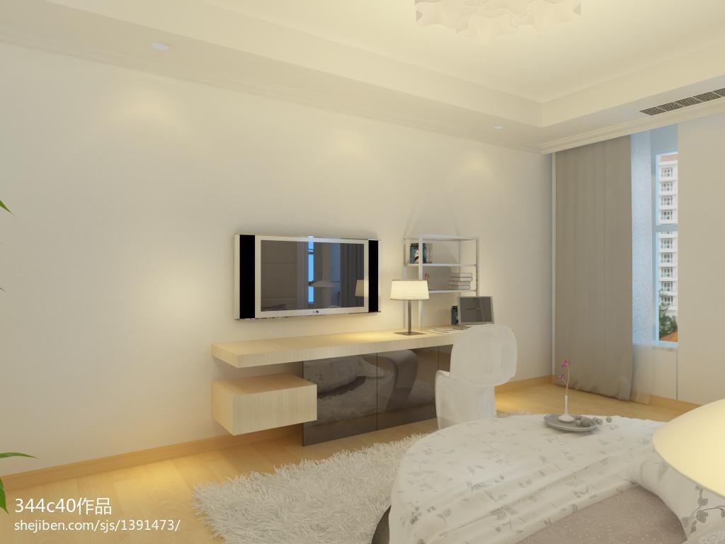 清新素雅北欧风格电视背景墙装修效果图