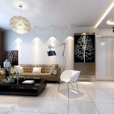 2018面积70平现代二居客厅欣赏图片