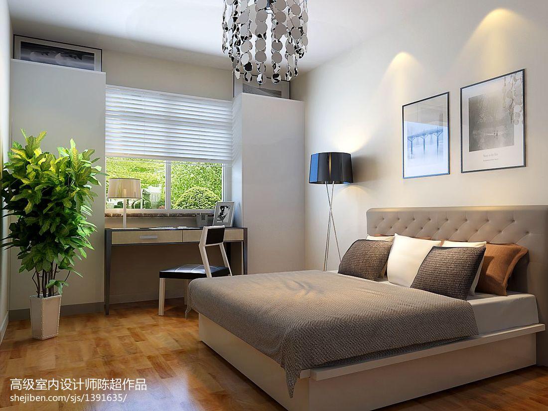 热门79平米二居卧室现代装修实景图