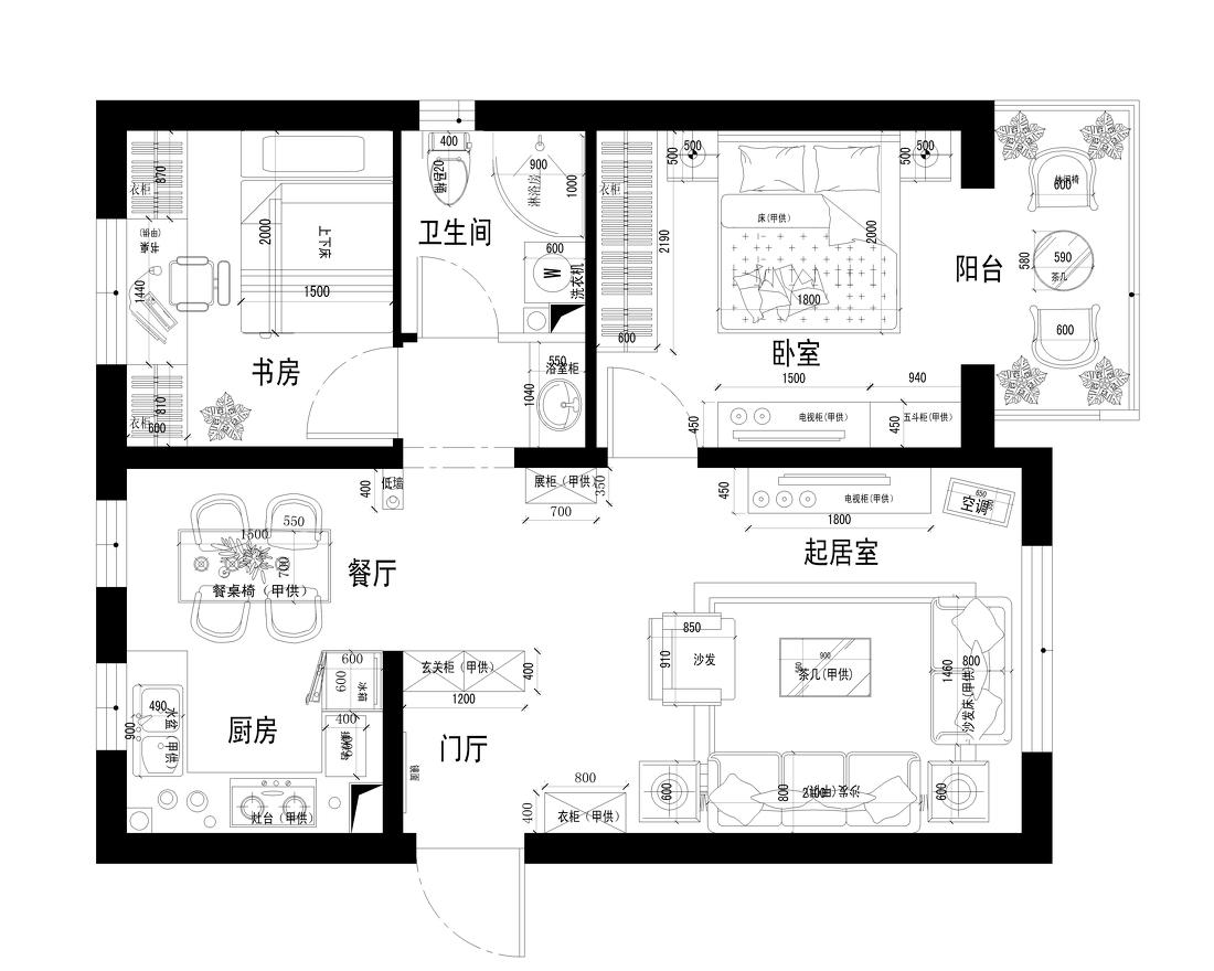 热门大小70平现代二居客厅装修欣赏图