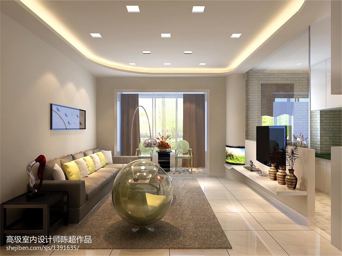 精选面积78平现代二居客厅欣赏图
