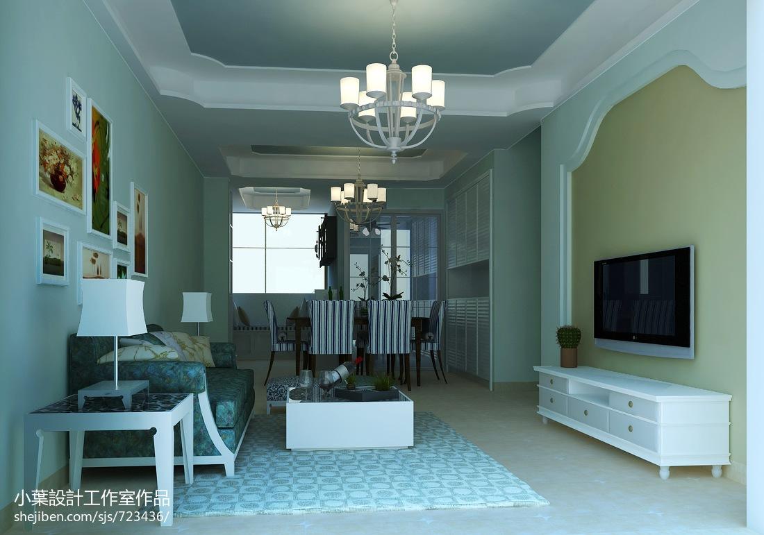 现代日式风格室内电视背景墙图片
