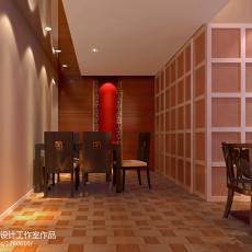 两居室样板间餐厅装修效果图