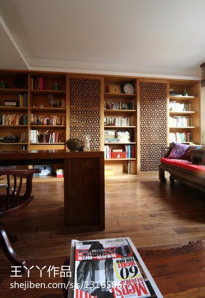 84平美式休闲三居书房装修案例