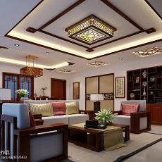 法式风格四室两厅客厅装修效果图