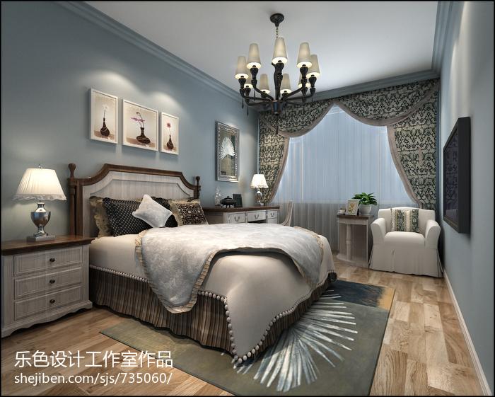 精选面积72平美式二居卧室装修图片大全