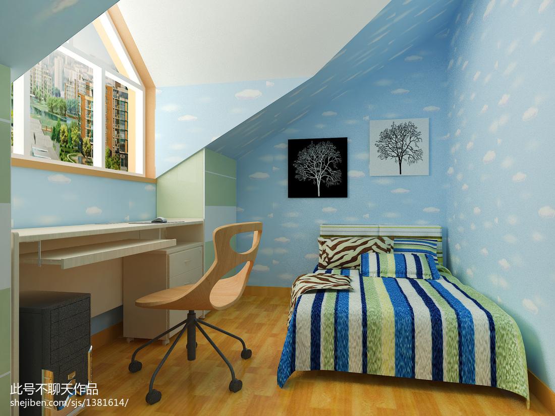 复式男儿童房装修效果图