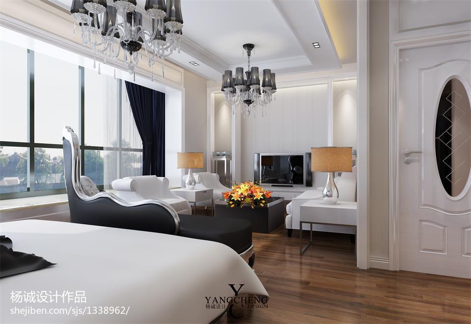 现代风格复式卧室装修效果图