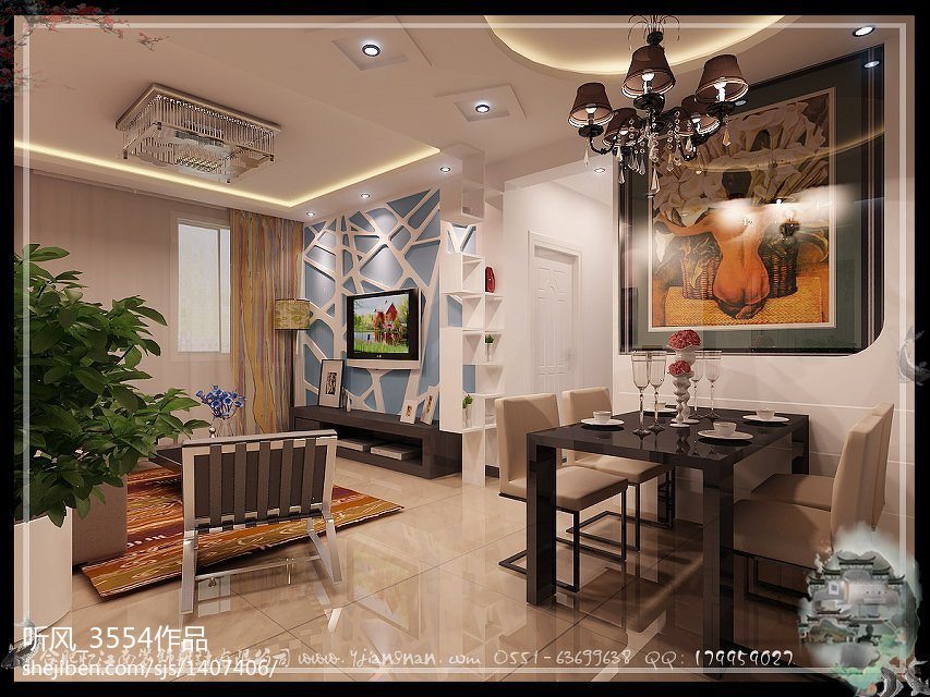 时尚木质简约客厅