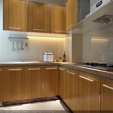 现代简约风格两室两厅厨房装修效果图片