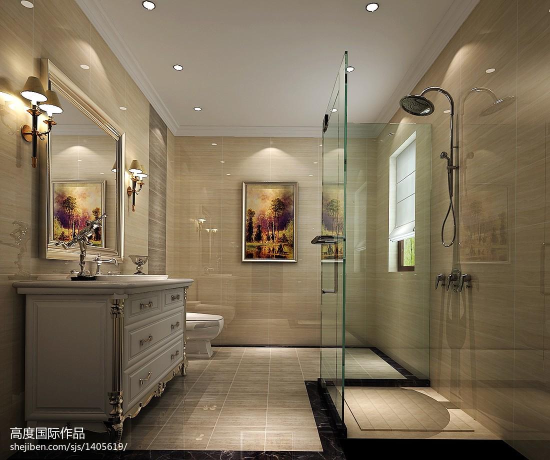 精美面积132平复式卫生间现代效果图