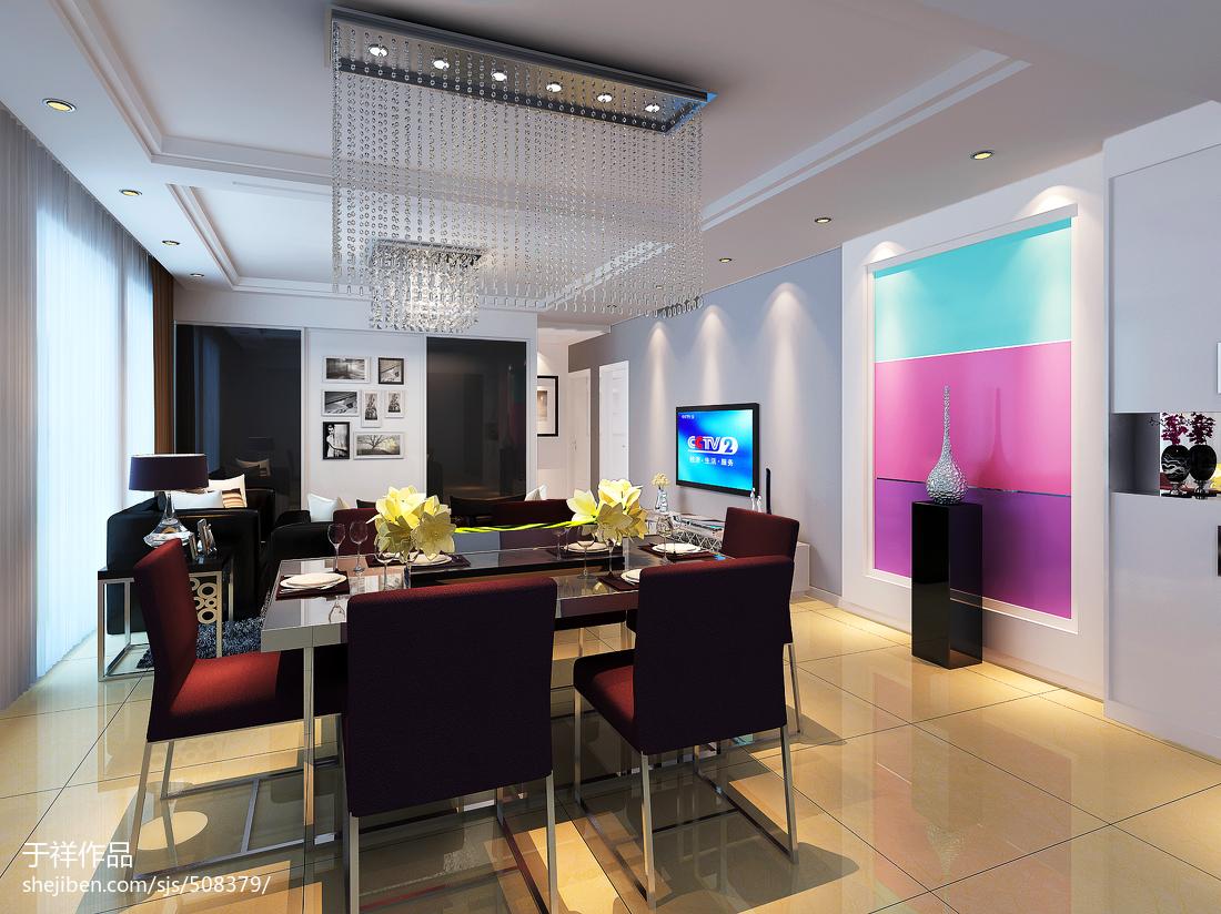 120平现代三室装修效果图片