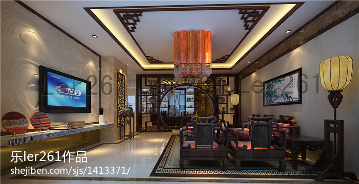 美式现代风格餐厅室内设计图片