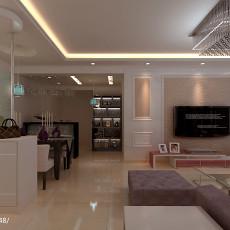极简仿古风格二居室装修客厅效果图