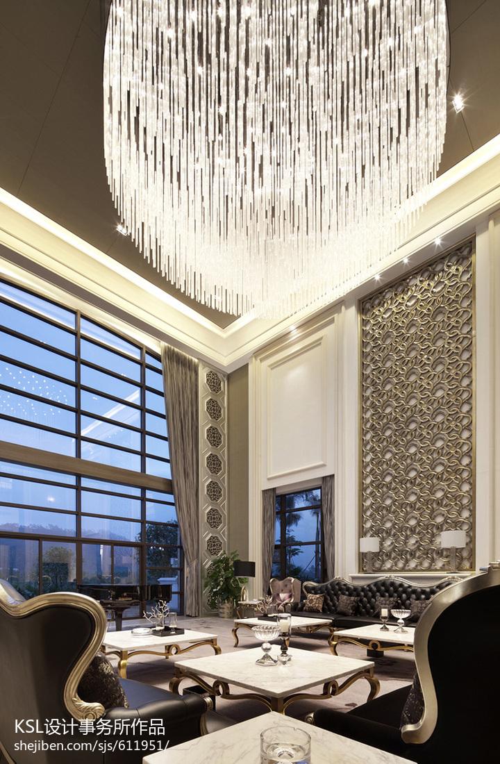 精选122平米欧式别墅客厅欣赏图片