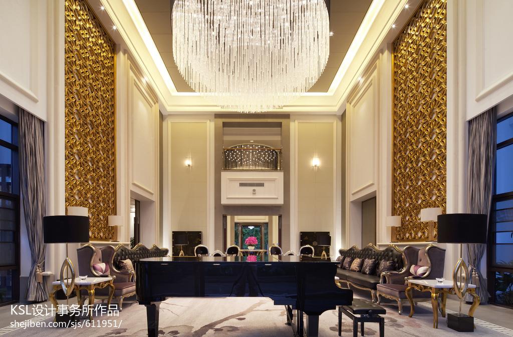 精选面积118平别墅客厅欧式装修效果图片大全