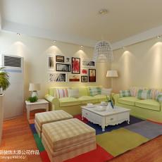两室两厅装修客厅效果图