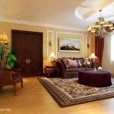 112平米东南亚复式客厅效果图片