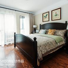 美式卧室窗帘装修效果图大全