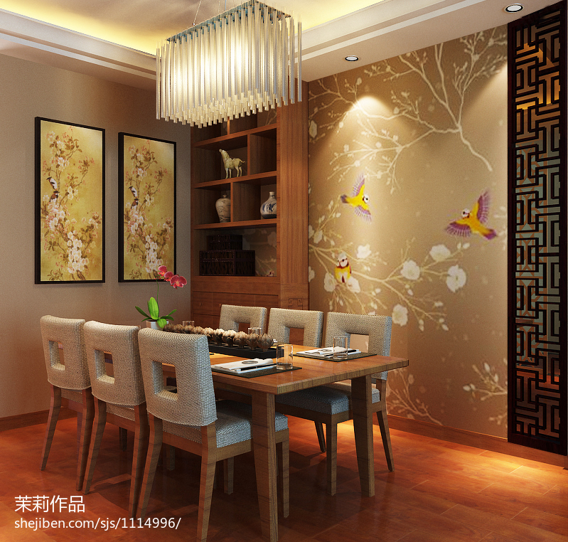 现代简约复式餐厅装修效果图片