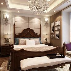 2018精选105平米三居卧室欧式装修设计效果图片欣赏