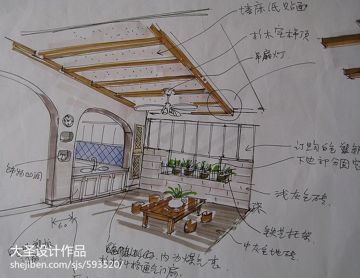 现代简约风餐厅设计装修图