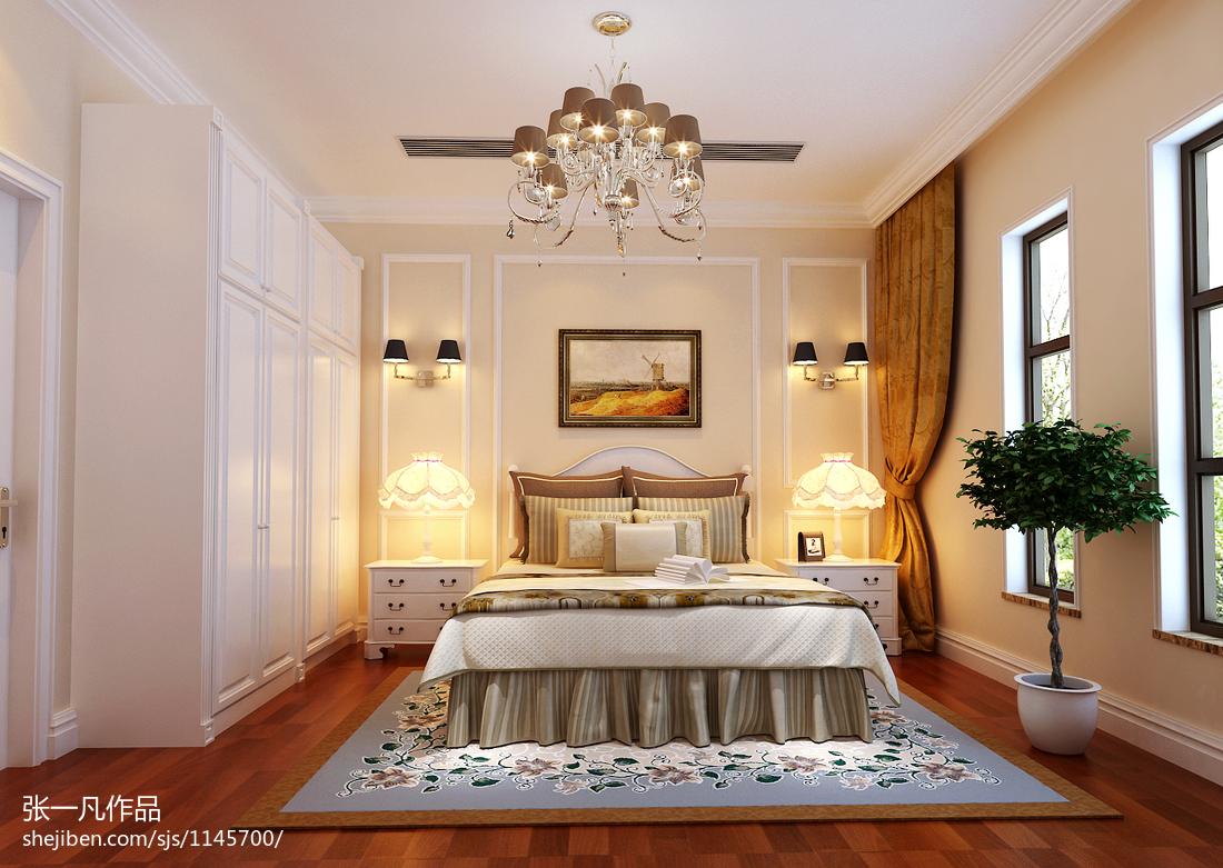 精美143平米欧式别墅卧室装修效果图片欣赏
