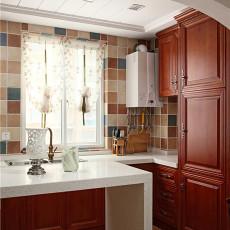精选面积93平美式三居厨房装饰图