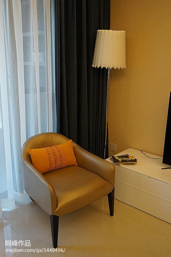 精选面积107平现代三居卧室装修效果图片