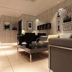 现代简约风格两室两厅豪华客厅装修效果图