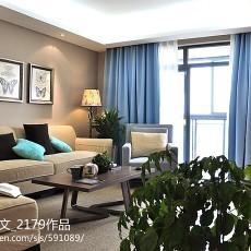 2018大小109平现代三居客厅装修设计效果图