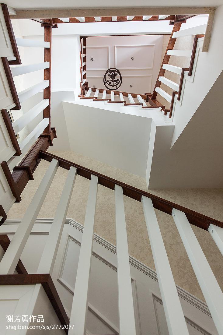 美式精美室内楼梯图片
