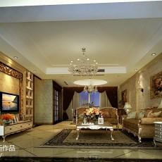 热门面积140平欧式四居客厅效果图片欣赏