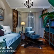 美式复式装修客厅图片欣赏