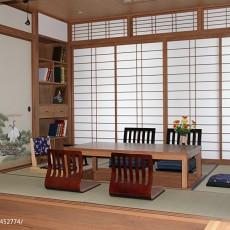 家庭书房兼卧室设计效果图