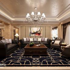 2018面积141平欧式四居客厅装修设计效果图片