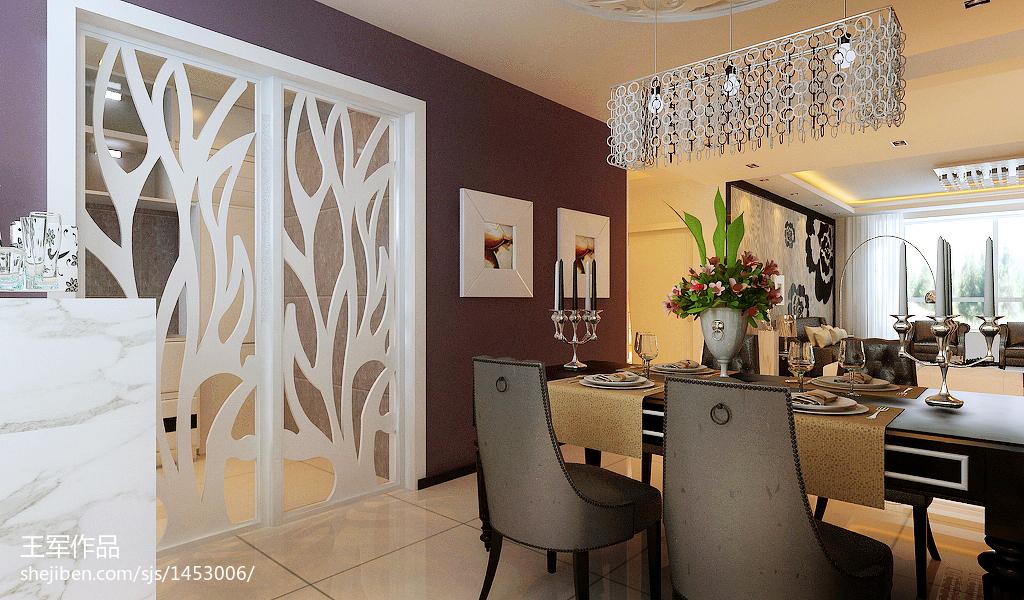 美式餐厅客厅吊顶设计