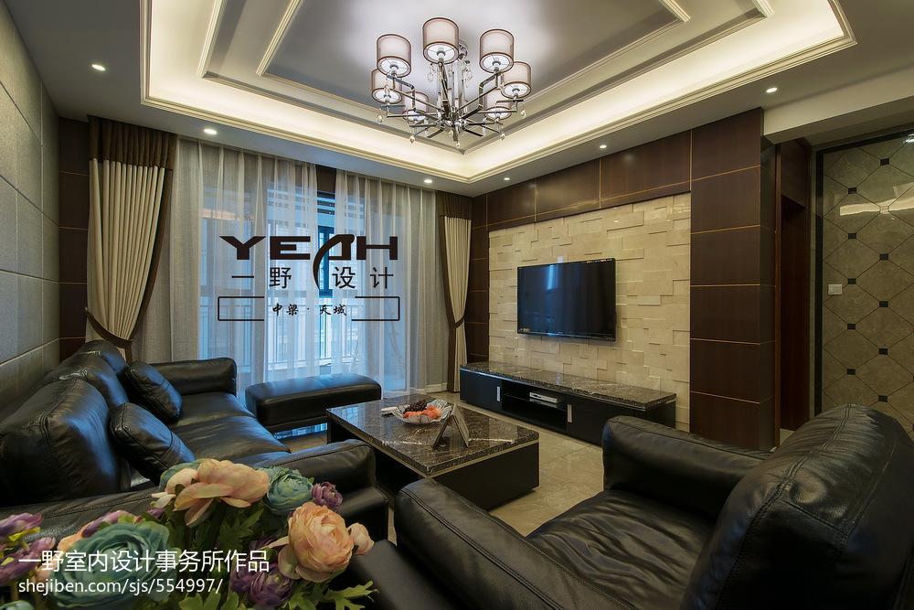 时尚大气现代风格客厅电视背景墙设计