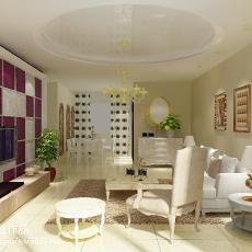 82平米现代小户型客厅设计效果图