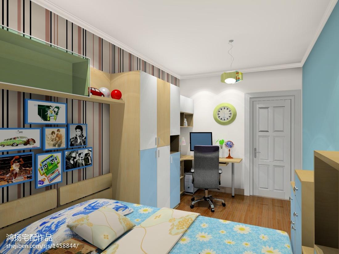 现代风格一居卧室装饰设计图片